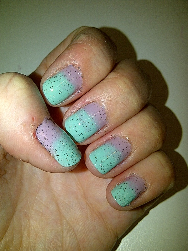 Step 7: clean any excess polish off your fingers, apply your top coat and allow to dry.