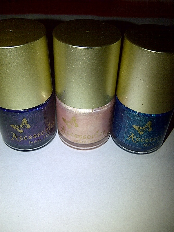 These are the Accessorize nail polishes i bought today.