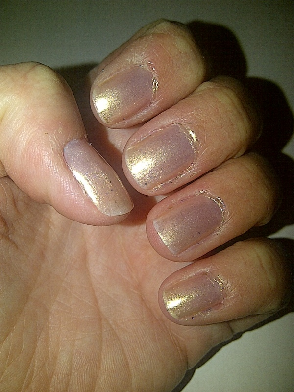 Step 2: apply two coats of the polish of your choice and allow to dry.