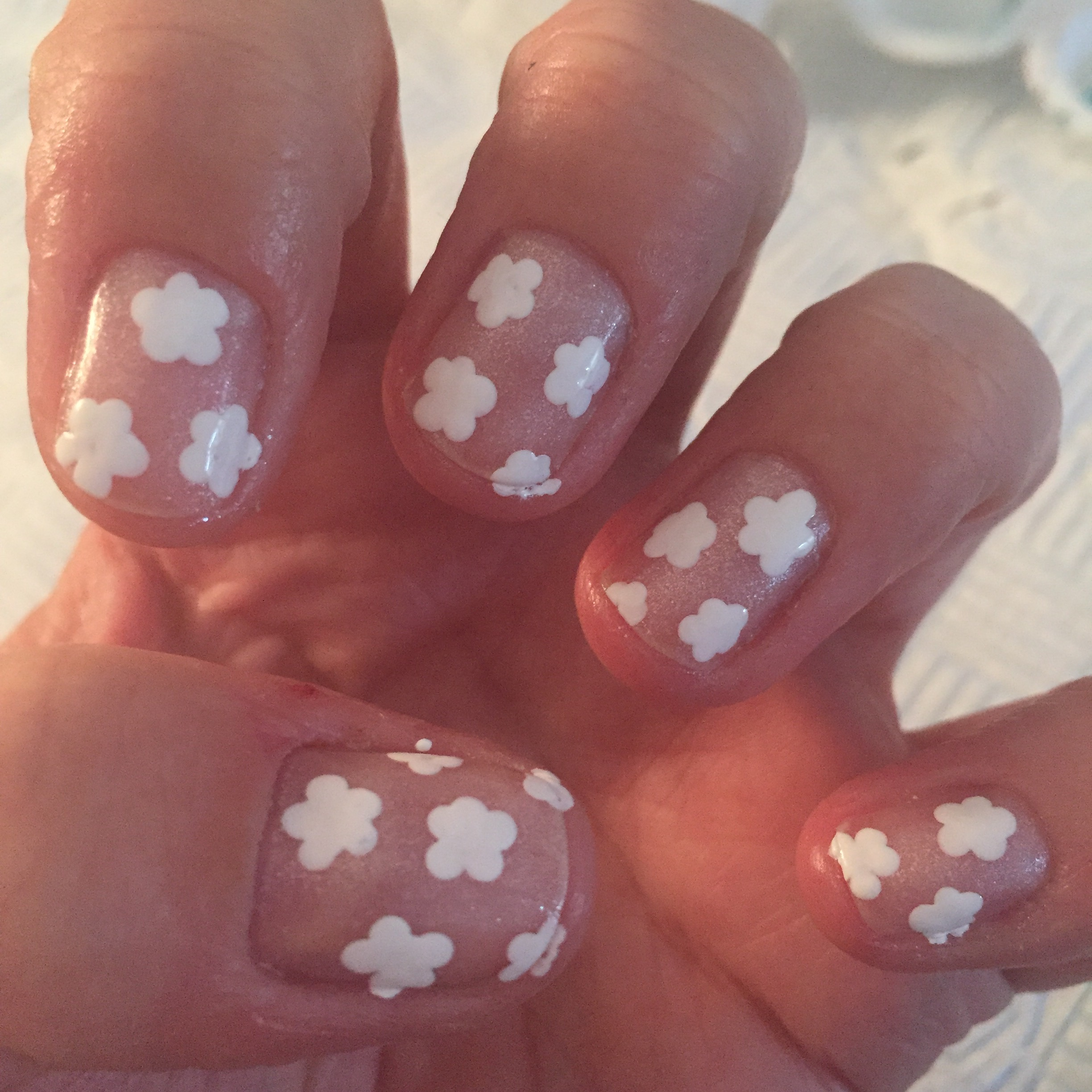 Step 2 Use Your Medium Dotting Tool And White Polish To Paint Some Flowers Over Nails